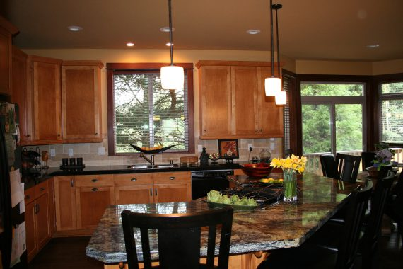 Upscale kitchen granite countertops