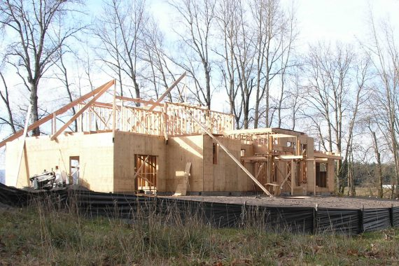 On-site Framing Country Home