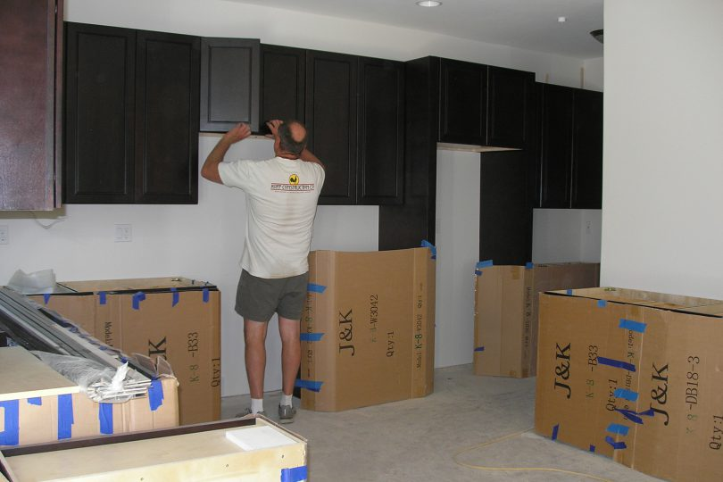 Kopp Construction cabinet installation