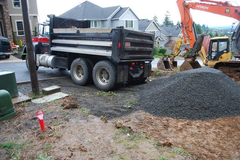 Building lot site prep sloped lot