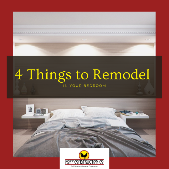 4 Things to Remodel in Your Bedroom. Kopp Construction: General Contractor - Portland, OR Metro Area. We are a Custom Home Builder offering new home construction, remodeling, additions, and more. Services include Custom Home Construction, Design Work & Plans, Custom Remodeling, Repairs, Additions, Commercial Building, and more.