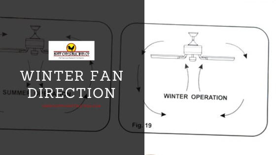Change the Direction of Ceiling Fan_ winter. Kopp Construction: General Contractor - Portland, OR Metro Area. We are a Custom Home Builder offering new home construction, remodeling, additions, and more. Services include Custom Home Construction, Design Work & Plans, Custom Remodeling, Repairs, Additions, Commercial Building, and more.
