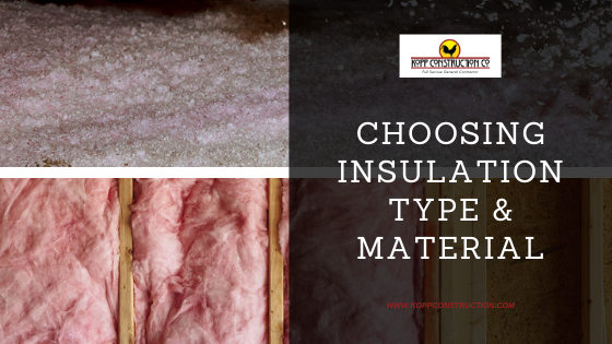 2) Choosing Insulation Type & Material From concept to completion, we provide full remodeling services. Whether you are renovating existing space or you want to add a completely new addition, Kopp Construction has the staff and crew to meet your needs. We can provide in-house design and plans for you, or we are happy to work with your Architect or Designer, or we can recommend one for you.