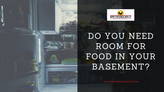 Do you Need Room for Food in Your Basement? Kopp Construction: General Contractor - Portland, OR Metro Area. We are a Custom Home Builderoffering new home construction, remodeling, additions, and more. Services include Custom Home Construction, Design Work & Plans, Custom Remodeling, Repairs, Additions, Commercial Building, and more.