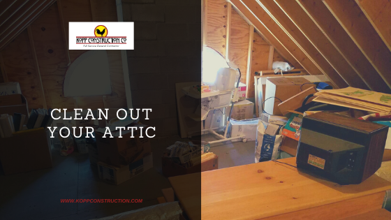 Clean Out Your Attic. Kopp Construction: General Contractor - Portland, OR Metro Area. We are a Custom Home Builder offering new home construction, remodeling, additions, and more. Services include Custom Home Construction, Design Work & Plans, Custom Remodeling, Repairs, Additions, Commercial Building, and more.