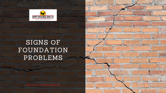 Signs of Foundation Problems. Kopp Construction: General Contractor - Based out of forest grove construction and works Portland, OR Metro Area. We are a Custom Home Builderoffering new home construction, remodeling, additions, and more. Services include Custom Home Construction, Design Work & Plans, Custom Remodeling, Repairs, Additions, Commercial Building, and more.