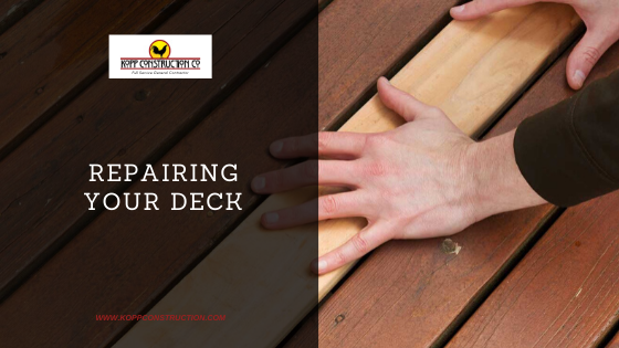 Repairing Your Deck! Kopp Construction: General Contractor - Portland, OR Metro Area. We are a Custom Home Builder offering new home construction, remodeling, additions, and more. Services include Custom Home Construction, Design Work & Plans, Custom Remodeling, Repairs, Additions, Commercial Building, and more.