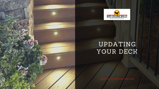 Updating Your Deck! Kopp Construction: General Contractor - Portland, OR Metro Area. We are a Custom Home Builder offering new home construction, remodeling, additions, and more. Services include Custom Home Construction, Design Work & Plans, Custom Remodeling, Repairs, Additions, Commercial Building, and more.